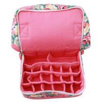 韩版 9格20格装 精油包携带式收纳包帆布精油包可放椰油