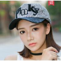 字母帽子女鸭舌帽加厚韩版休闲百搭时尚潮学生甜美可爱