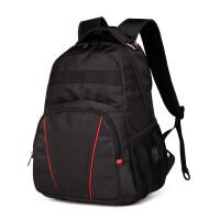 ?双肩包男士背包商务15寸电脑包高中学生书包大容量旅行包? 1_黑色