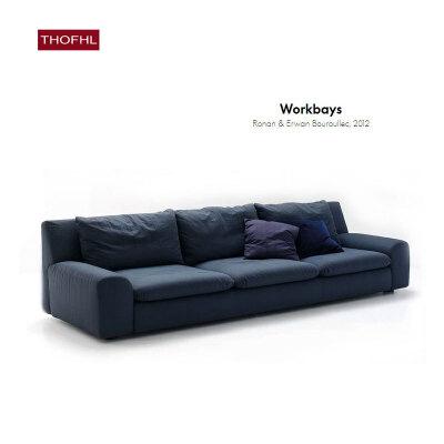 【品质甄选 质保三年】北欧舒适系亲肤沙发W1878 组合沙发转角沙发牛皮沙发羽绒沙发乳胶沙发支付礼品卡 送靠枕 可拆洗 送货到家