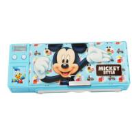 迪士尼 笔盒学生儿童文具盒 带练字板白板笔铅笔盒 83039