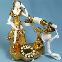 金装丽人 电话机 电话座机 来电显示电话 欧式仿古电话 机家用老式座机客厅固定电话机