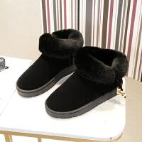 2018冬季新款保暖雪地靴短靴女靴防滑学生毛毛厚底女鞋加绒短筒靴