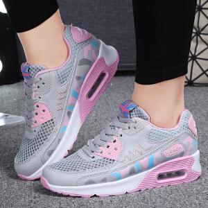 秋季新款女鞋气垫鞋女士鞋运动韩潮版秋天女学生远动走步鞋女款