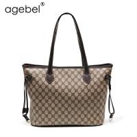 艾吉贝新款托特包单肩女包欧美时尚手提大包包简约购物袋妈咪包