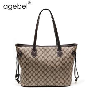 艾吉贝2017春款新款托特包单肩女包欧美时尚手提大包包简约购物袋