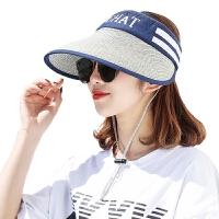 帽子女夏季户外大沿可折叠遮阳帽草帽骑车防晒帽沙滩帽空顶太阳帽