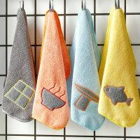 擦手巾�焓叫∶�巾抹布�^搽吸水�N房抹手洗碗小方巾生活日用品百�