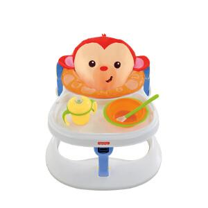 费雪四合一小猴欢乐园CBV66多功能婴幼儿餐椅手推学步车宝宝玩具