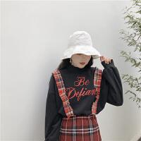 韩国东大门2017秋冬新款HAN HAN套头长袖宽松加绒卫衣潮女