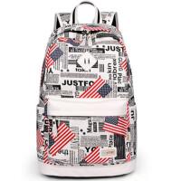 书包中学生女学院风包包大容量双肩包女帆布