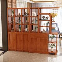现代客厅入户鞋柜入户客厅中式实木酒柜玄关柜隔断柜简约门厅屏风双面鞋柜储物 组装框架结构