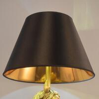 灯罩外壳布艺配件黑色金色圆形灯罩台灯落地客厅卧室床头田园欧式