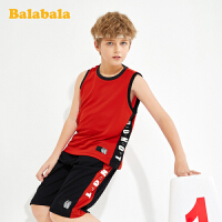 巴拉巴拉男童运动套装童装夏装背心短裤透气儿童两件套中大童洋气