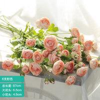 假花装饰摆件仿真花客厅插花花束餐桌花摆设绢花艺单支小露莲花卉