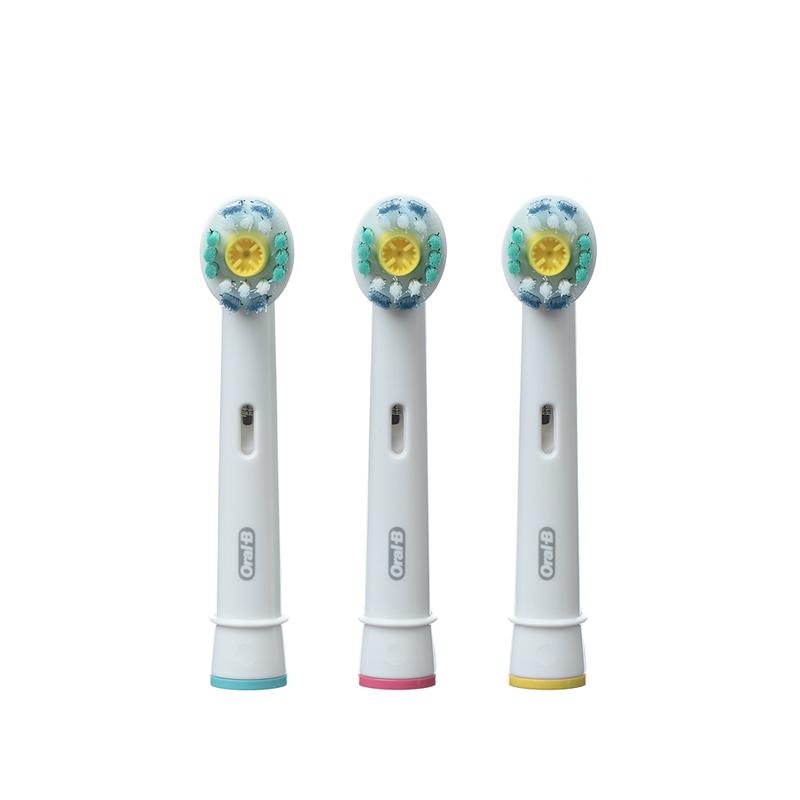 博朗Oral-B 欧乐B 原装进口 电动牙刷头配件 EB18-3 正品 抛光杯设计 光洁亮白 德国进口 3枚装