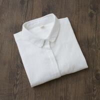 秋季新款韩风文艺白衬衫女士打底衫内搭衬衣圆领长袖百搭上衣
