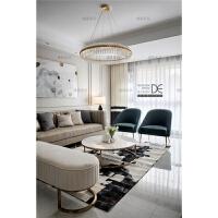 后现代客厅沙发港式轻奢实木沙发新古典法式极简欧式沙发美式家具 组合