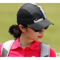 户外女帽男帽运动速干遮阳鸭舌帽子春夏男女网眼棒球帽高尔夫凉帽