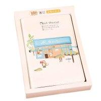 创意活页夹手账本 A6盒装礼物笔记本 皮面日程计划本 记事本 一本图案*