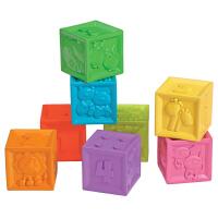 美国infantino婴蒂诺 软胶数字积木捏捏乐 宝宝堆叠玩具3-6-9个月