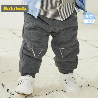 【2件5折价:64.95】巴拉巴拉宝宝裤子男加绒2019新款婴儿运动裤加厚男童长裤加绒休闲