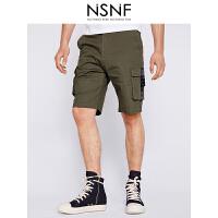 NSNF军旅风工装男士短裤 休闲裤 男装2017短裤新款 潮牌男裤