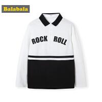巴拉巴拉男童长袖t恤秋装2019新款童装儿童上衣宽松韩版洋气百搭
