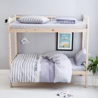 君别棉上下铺床单被套儿童学生宿舍床罩1.35米床笠三件套床上四件套 1.5m床 床笠款套件