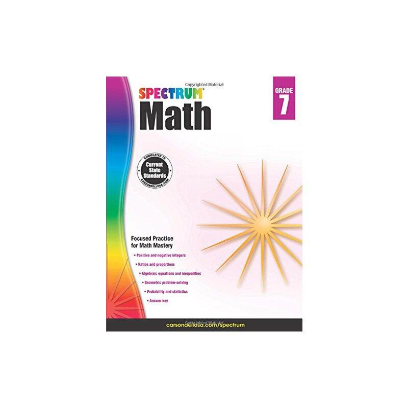英文原版 数学练习册,7年级 Spectrum Math Workbook, Grade 7