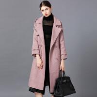 �莱毛呢外套女装中长款2016秋冬季新款呢子风衣韩版修身学生呢子大衣