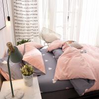 少女心床上四件套棉纯棉水洗棉被套北欧网红被子床单三件套1.5m