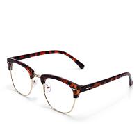 防辐射眼镜男款女款防蓝光配近视眼睛架平光眼镜框潮时尚复古圆框韩版