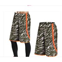 夏迷彩过膝休闲速干透气篮球裤跑步健身短裤宽松五分裤运动短裤男