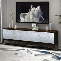 美式轻奢电视柜实木后现代客厅装饰柜简约小户型贝壳储物柜设计师 可定制 整装