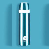 特百惠保温杯 500ml不锈钢保温瓶男女户外家用便携大容量闷烧水杯宝石蓝 送杯套