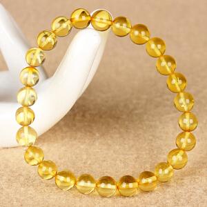 金珀圆珠手串 直径 7mm