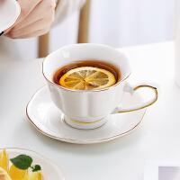 光一咖啡杯子陶瓷欧式小奢华优雅高档挂耳咖啡专用轻奢简约带勺碟英式
