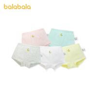 【2件6折:65.4】巴拉巴拉女童�妊�棉三角��和�短�中大童�����r尚印花甜美五�l�b