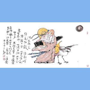 国内文与画俱佳的艺术家中国北方书画研究会常务理事国家一级美术师刘子玉(清夜无尘月色如银)