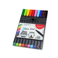 马培德Maped 10色彩色签字笔 中性笔套装 水性勾线笔 749150