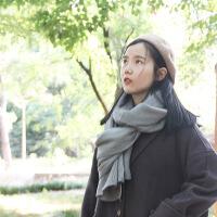 韩版毛线围巾女秋冬季针织长款加厚情侣围巾学生保暖围脖韩国男