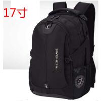 瑞士军刀双肩包男女士中学生书包男背包休闲商务电脑包旅行包