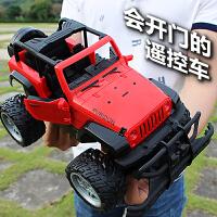 遥控越野车充电可开门悍马遥控汽车儿童玩具男孩玩具赛车模型