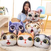 可爱小猫咪公仔布娃娃创意抱枕靠垫毛绒玩具生日圣诞礼物女孩