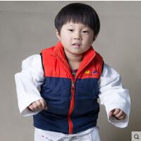 羽绒棉马甲跆拳道男女成人训练棉服儿童保暖背心跆拳道服马甲