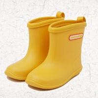 新款儿童雨鞋纯色中筒防滑底雨靴撞色男女童防滑套鞋学生水鞋套鞋