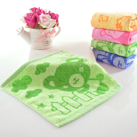 纯棉小方巾批�l婴儿擦口水全棉吸水正方形幼儿园儿童洗脸毛巾四方 25x25cm