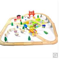 2-3-9岁男孩女孩早教益智力木制玩具农场火车托马斯轨道