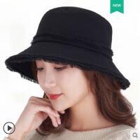 新款女士帽子时尚韩版潮渔夫帽春秋女帽日系户外短发圆脸盆帽